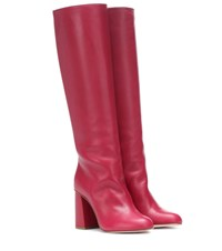 Red Valentino Leather Boots Red