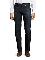 Ralph Lauren Purple Label Straight Fit Whiskered Jeans Blue