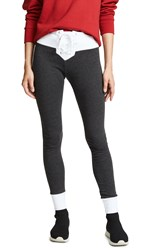 Wildfox Couture Contrast Fifi Skinny Sweats Clean Black Clean White
