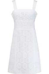 Tory Burch Margaux Broderie Anglaise Cotton Dress White