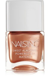 Nails Inc Sweet Almonds Powered By Matcha Nail Polish Mayfair Market Mews Copper