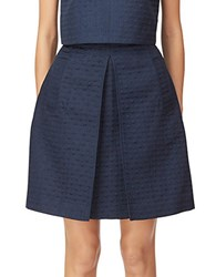 Erin Fetherston Lana Pleated Skirt Navy