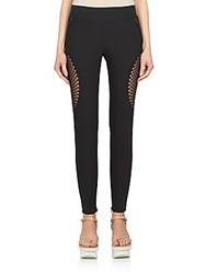 Stella Mccartney Mirabelle Mesh Inset Leggings Black