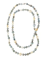 Belpearl Long Multicolor Tahitian And South Sea Pearl Necklace