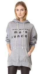 Wildfox Couture 3 Day Weekends Hoodie Heather Burnout