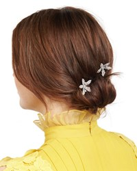 Jennifer Behr Petite Orchid Bobby Pin Two Piece Set Clear