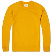 Norse Projects Vorm Brushed Crew Sweat Yellow