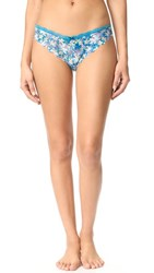 Honeydew Intimates Camellia Lace Thong High Tide Floral