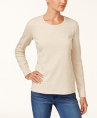 Style And Co Scoop Neck Top Created For Macy's Natural Heather