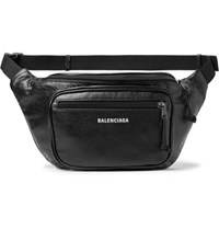Balenciaga Arena Creased Grain Leather Belt Bag Black