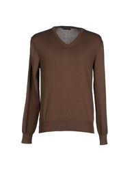 Andrea Morando Knitwear Jumpers Men Khaki