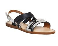 Office Bali Strappy Sandals Black White