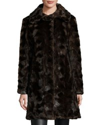 Gorski Reversible Mink Fur Down Feather Coat Brown