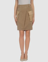 Gunex Skirts Knee Length Skirts Women Khaki