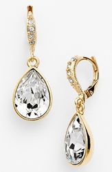Givenchy Small Teardrop Earrings Gold Clear