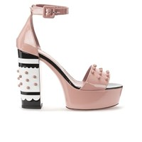 Red Valentino Redvalentino Women's Studded Heeled Sandals Nude