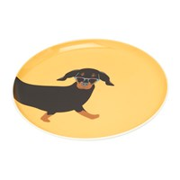 Joules Barking Side Plate Dachshund