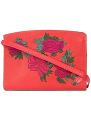 Lizzie Fortunato Jewels Fire Floral Leisure Shoulder Bag Leather Red