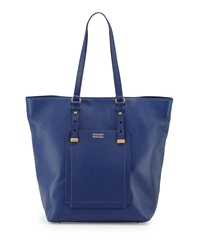 Badgley Mischka Ava Pebbled Leather North South Tote Bag Ink