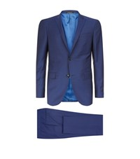 Corneliani Wool Mohair 2 Piece Suit Male Blue