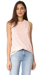 Stateside Polka Dot Tank Peach