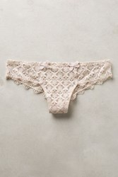 Anthropologie Valery Crochet Thong Beige 2 Intimates
