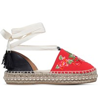 Kurt Geiger Paris Embroidered Platform Espadrilles