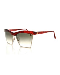 Christian Lacroix Vintage Dual Rimmed Sunglasses Red