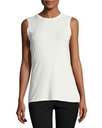 1.State Twist Back Sleeveless Top White