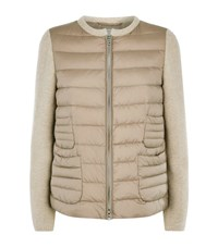 Bogner Leanne D Knitted Sleeve Bomber Jacket Female