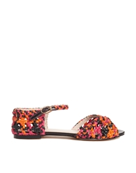 Chocolate Schubar Chelle Flat Sandals Blackorange