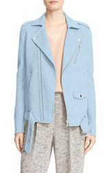 Theory Women's Tralsmin Wool And Cashmere Moto Jacket Ocean Blue