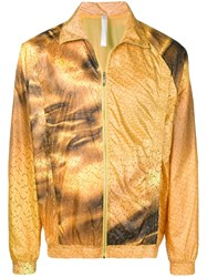 Cottweiler Abstract Print Jacket Yellow