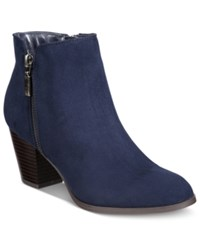 Styleandco. Style Co. Jamila Zip Booties Only At Macy's Women's Shoes Navy