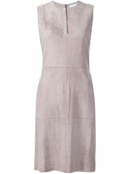 Fabiana Filippi Suede Dress Nude And Neutrals