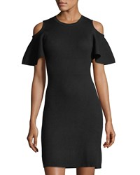 Laundry By Shelli Segal Cold Shoulder Sweater Dress Black