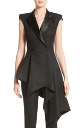 Monse Women's Asymmetrical Cap Sleeve Blazer Black