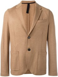 Harris Wharf London 'Merrino Interlock' Blazer Nude Neutrals