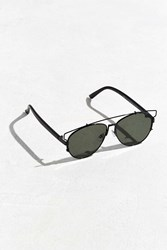 Urban Outfitters Extended Brow Bar Aviator Sunglasses Black
