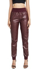 Kendall Kylie Cobain Vegan Leather Pants Red Currant