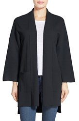 Eileen Fisher Women's Silk And Organic Cotton Knit Long Sleeve Kimono Coat