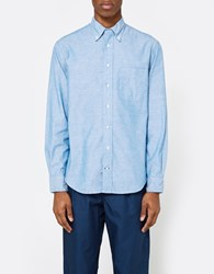 Gitman Brothers Vintage Iridescent Chambray Ls Button Down Indigo