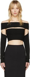 Mcq By Alexander Mcqueen Black Bandeau Off The Shoulder Top
