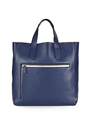 Uri Minkoff Pebbled Leather Tote Navy