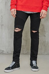 Forever 21 Distressed Skinny Moto Jeans