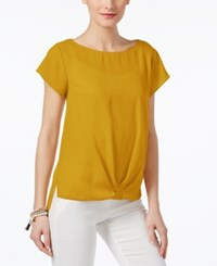 Inc International Concepts Twist Front T Shirt Only At Macy's Polished Gold