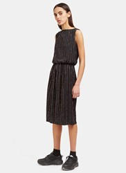 Marc Jacobs Mid Length Glittered Pinstripe Dress Black