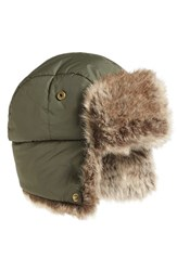 Barbour Women's Faux Fur Trapper Hat Green Olive