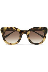 Thierry Lasry Draggy Round Frame Tortoiseshell Acetate And Metal Sunglasses One Size