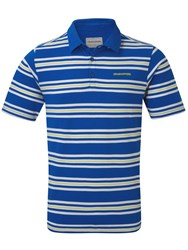 Craghoppers Creston Short Sleeved Polo Blue